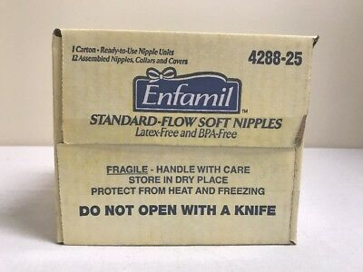 Pack Of 12 Enfamil Standard-Flow Soft Nipple Suitable Ready to use Latex- Free