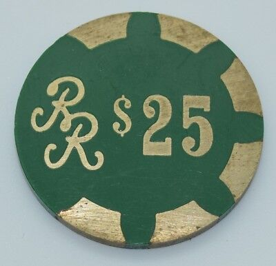 Reno Ramada $25 Casino Chip Reno Nevada PMSC Brass 1988