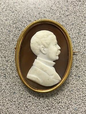 Antique Vintage 18KT-14KT Gold Carved Shell Cameo Pin/Pendant Brooch Rare