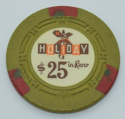 1960 Holiday $25 Casino Chip Reno Nevada H.C.E. Mold