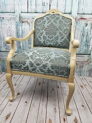 Vintage Armchair Ornate Shabby Chic New Upholstery Accent Arm Chair Local Pickup