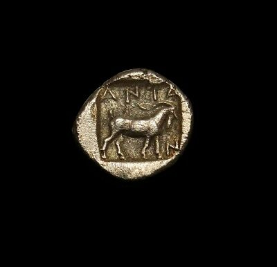 Goat and Artemis Astyrene.Masterpiece⭐ VERY RARE Greek coin.TROAS. Antandros