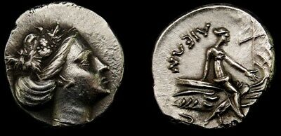 MS⭐Nymph Histiaia +Ship.OF THE FINEST STYLE.Ancient Greek Coin Similar sold$1300