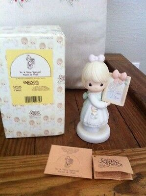 """ENESCO Precious Moments Figure 521434 """"To A Very Special Mom & Dad"""" Great Gift"""