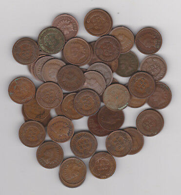 1861- 1908  Indian Head Cents 15 Below 1900-1 Roll