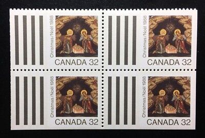 Canada #1225 MNH, Christmas Icons - Nativity Block of Stamps 1988