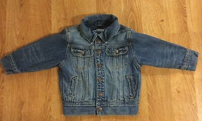 Baby Gap 1969 Snap Up Blue Denim Jean Jacket 3T