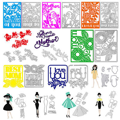 Mother's Day DIY Scrapbooking Embossing Cutting Dies Stencils Craft Album Card