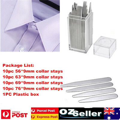 40pcs Stainless Steel Collar Stays Stiffeners For Mens Dress Shirt Men's Gift