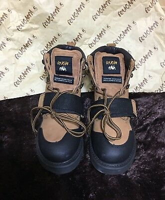 Cougar Paws Roofing Work Boots Tan Nubuck Size 7 Goodyear Hsf-3035