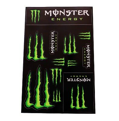 Monster Energy Drinks Logo Sheet of Stickers Decals