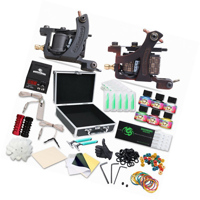 Dragonhawk Complete Tattoo Kit 2pcs Coil Tattoo Machine Tattoo Guns Color Immort