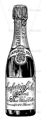 Furniture Decal Image Transfer Vintage Antique French Upcycle Champaign Drink