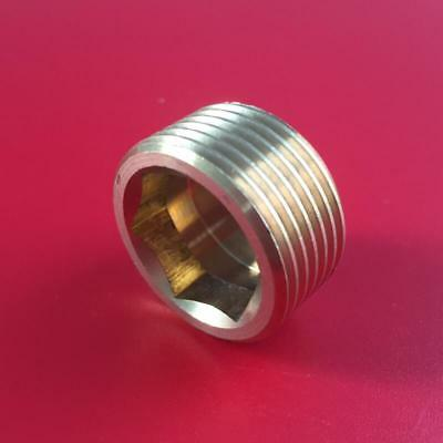 "Brass Internal Hex Male BSP Blanking Plug 1/8"" 1/4"" 3/8"" 1/2"" 3/4"""