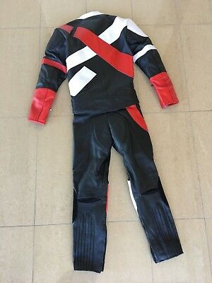 BLACK ROSE 2 PIECE MOTORCYCLE LEATHER SUIT SIZE XSMALL black/red 48