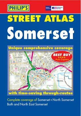 Philip's Street Atlas Somerset Spiral bound Book The Cheap Fast Free Post