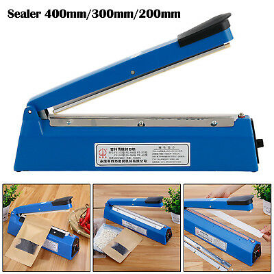 Impulse Heat Sealer Plastic Bag Film Sealing Machine Metal ABS 300mm 400mm