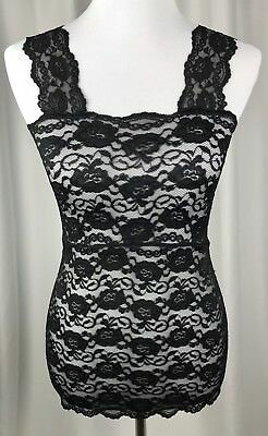 d9609f928f Ally Rose Toppers Black Lace Cami Size S Floral Camisole Strap Lingerie Top