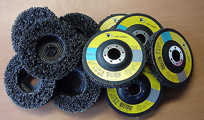 10 x 115mm Clean Strip Swiss Quality Angle Grinder Poly Disc Paint Rust Removal