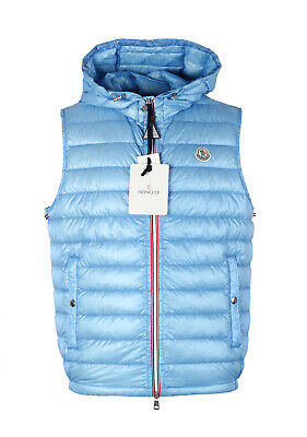 Details about Kith x Moncler Pelat Gilet Hooded Vest Size 3 Large in navyred Brand New 100%