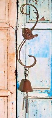 Vintage Cast Iron Bell and Bird Dinner Bell/Wind Chime