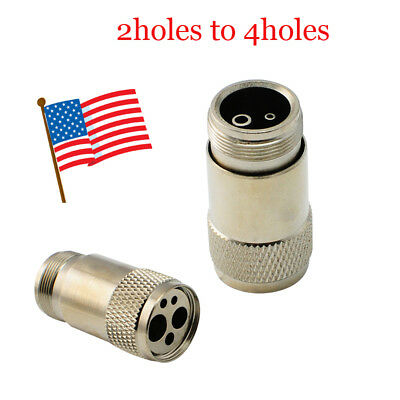 USA 2 hole to 4 Hole Dental Handpiece Tubing Adapter Changer Connector Converter