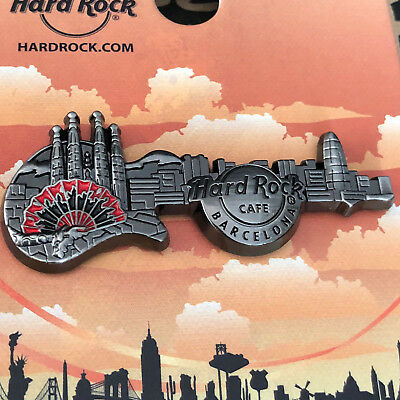 Hard Rock Cafe BARCELONA 3D Skyline Guitar Series 16 Pin - SOLD OUT