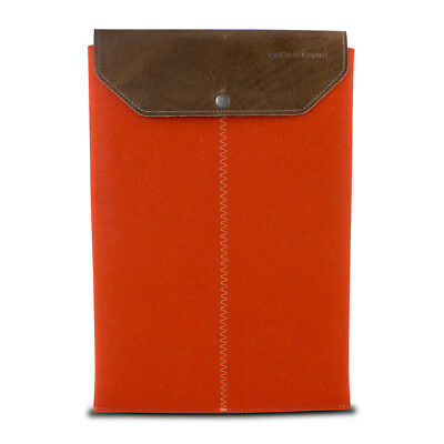 Graf & Lantz Felt Sleeve with Leather Flap for 13 MacBook Air - Orange