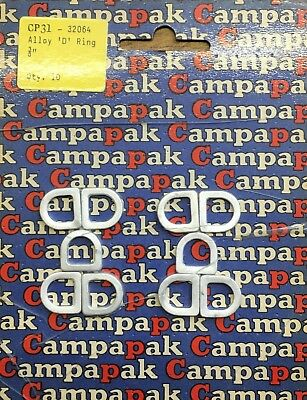 """PACK OF 40 Campa Pak 3//8/"""" Metal Tent Awning D d Rings Tent Spares CP31"""