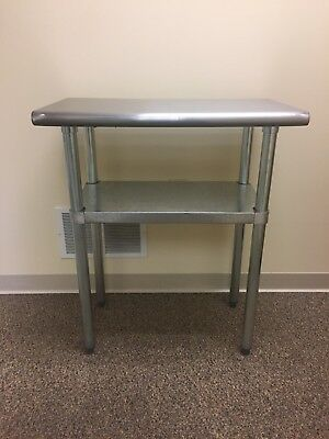 Stainless Steel Prep/Work Table with Underlying Shelf