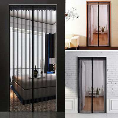 Mesh Door Curtain Magnetic Snap Fly Bug Insect Mosquito Screen Net Guard Hot