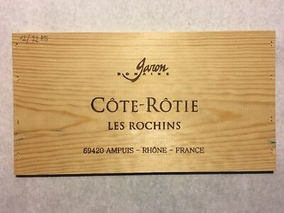 1 Rare Wine Wood Panel Côte Rôtie French Vintage CRATE BOX SIDE 4/18 405