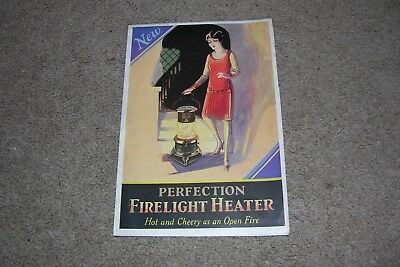 c.1930 Firelight Heater Brochure, Perfection Stove