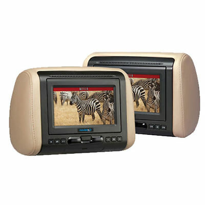 "Audiovox MTGHRD1 Single 7"" LCD Headrest Monitor w/ Built-In DVD/HDMI + 3 Covers"