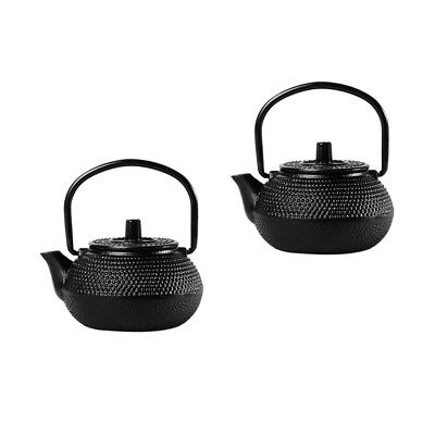 2pcs Japanese Antique Old Iron Tea Kettle Tetsubin Teapot Small Tea Pot 50ml