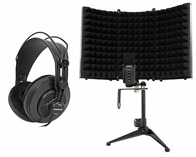SAMSON G-Track Pro Studio USB Podcast Microphone+Interface+Headphones+Shield