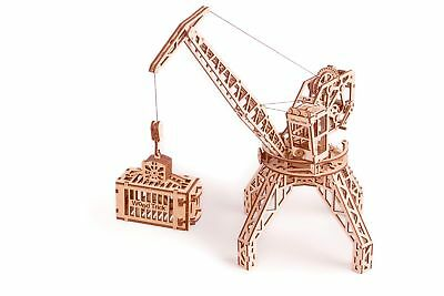 WOOD TRICK TOWER Crane Mechanical Wooden 3D Puzzle Model Self Assembly DIY  Kit