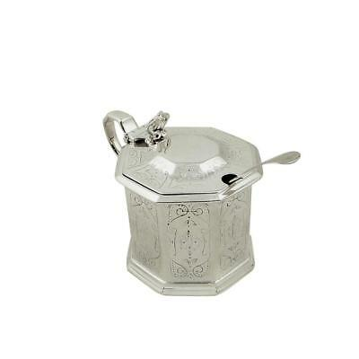 Antique Victorian Sterling Silver Mustard Pot - 1870