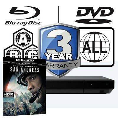 Sony UBP-X700 All Zone MultiRegion 4K Ultra HD Blu-ray Player & San Andreas