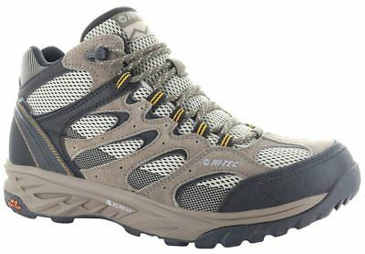 HiTec Hi-Tec Mens Gents Wild-Fire Mid Walking Hiking Shoes Waterproof - Taupe