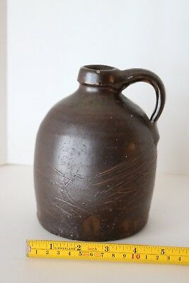 Antique Primitive Stoneware Brown Beehive Jug Moonshine Whiskey
