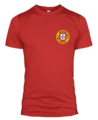 Portugal Retro Football T Shirt Badge Kit World Cup National Team Men Women L254