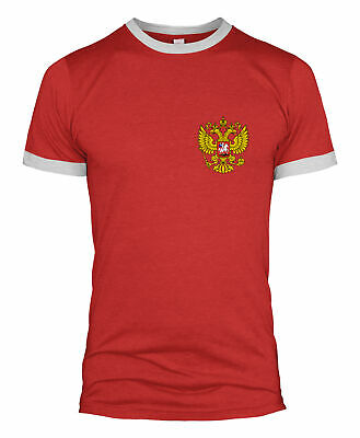 Russia Retro Football T Shirt Badge World Cup National Support Men Kid 2018 L254