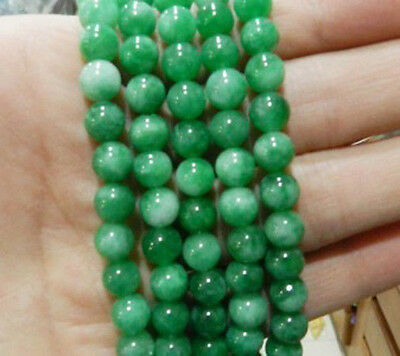 """6mm Natural Green Emerald Round Gemstone Loose Beads 15"""" AAA"""