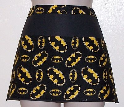 Black apron Batman waitress server waiter waist apron 3 pockets