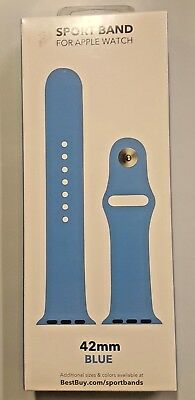 Silicone Sport Band 42mm For Apple Watch Blue 16L28A  NEW  Factory Sealed