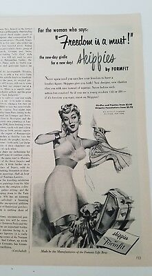 1954 women's skippies by FORMFIT bra girdle garters freedom is a must ad