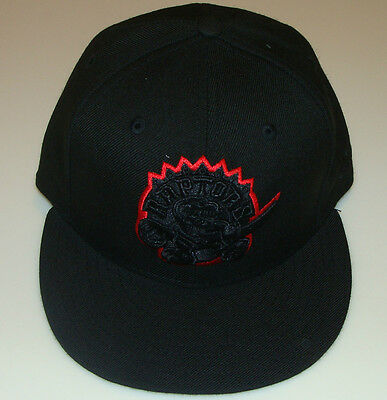 wholesale dealer 549fd 48de3 Toronto Raptors NBA Cap Hat Basketball Black Red New Era 59FIFTY Fitted 7 5  8