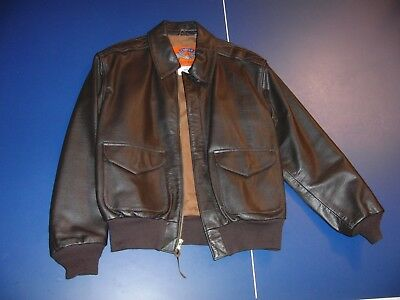 Vintage 80's Cooper Air Force Issue Leather A2 Bomber Jacket size 40R