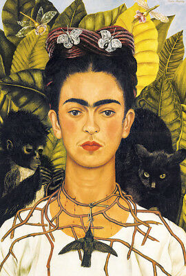 FRIDA KAHLO - SELF PORTRAIT - ART POSTER 24x36 - 52708